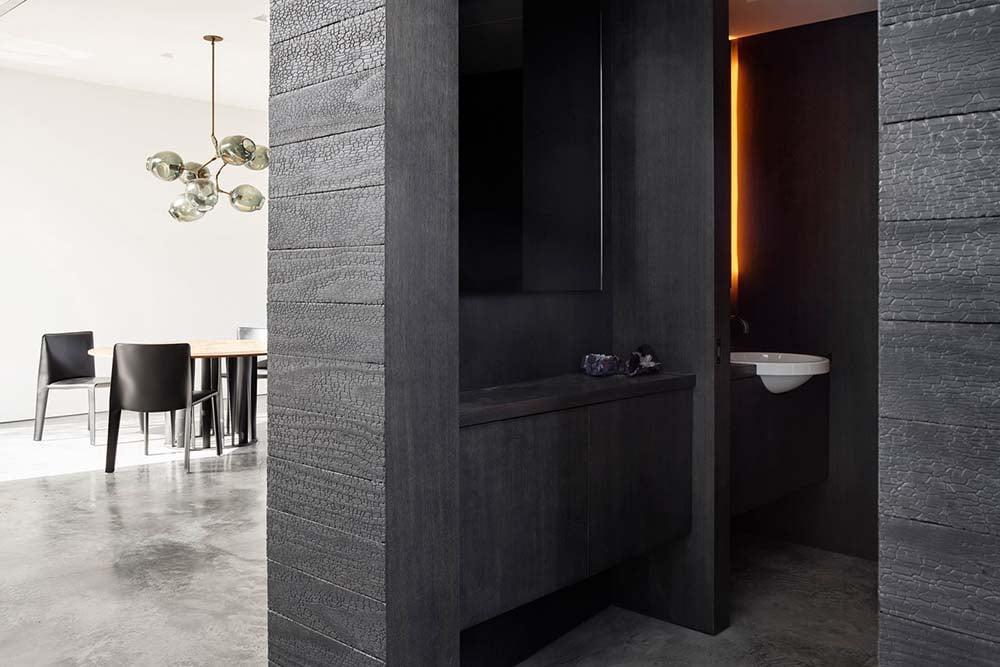 eyrc architects shou sugi ban modern home interior