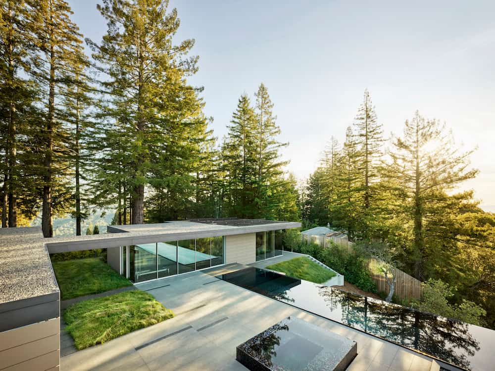 modern home with stunning view
