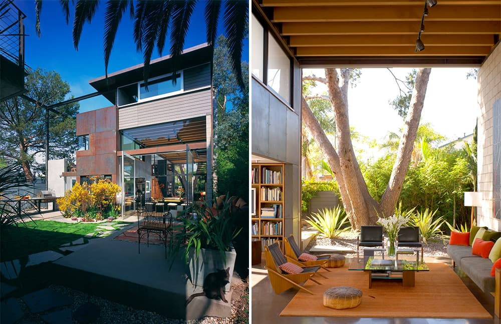 Modern homes with courtyard