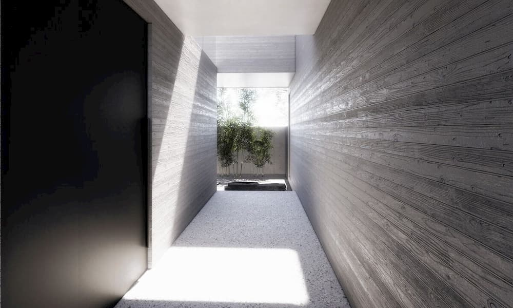 EYRC Architects Sajima Residence Corridor Framing View 3