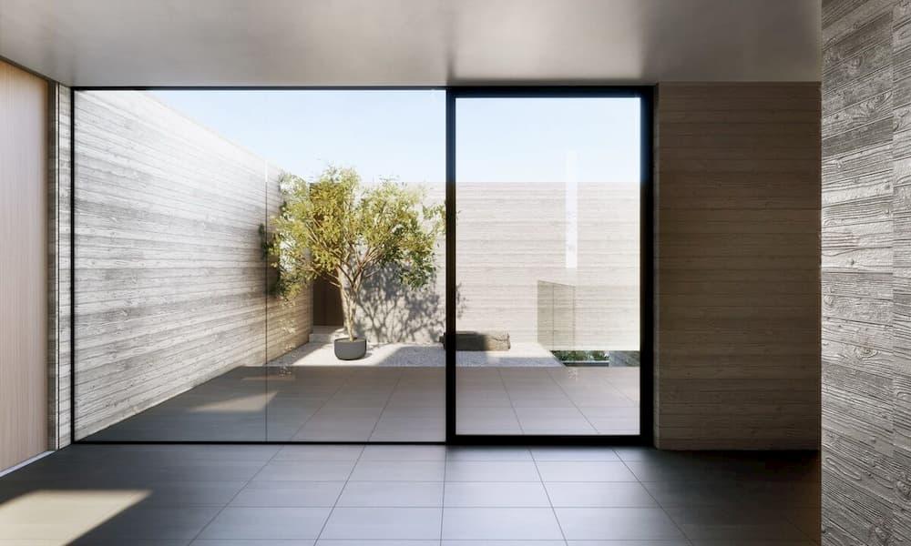 EYRC Architects Sajima Residence Courtyard 1