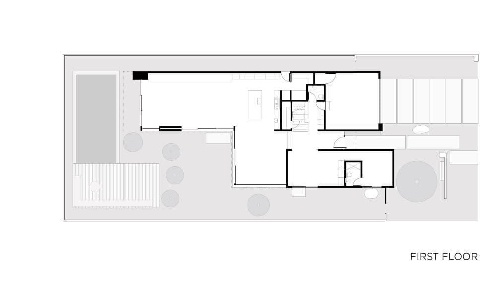 EYRC Architects 19th Street Residence Floor Plan
