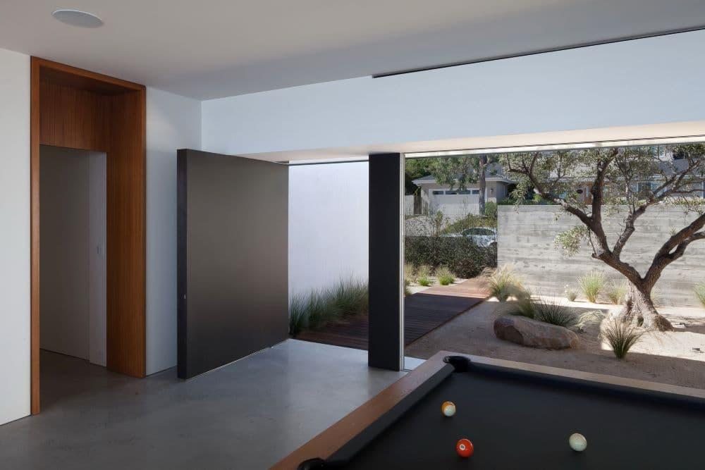 Midcentury Modern Home Interior Courtyard