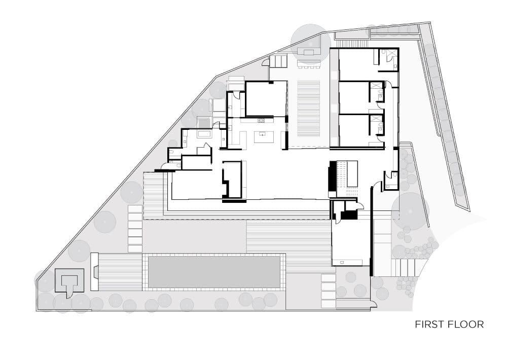 EYRC Architects Irvine Cove Residence Floor Plan