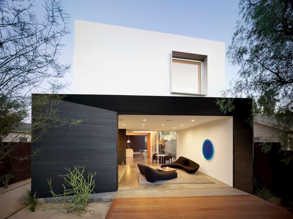 Spectral Bridge House Shou Sugi Ban EYRC Architects